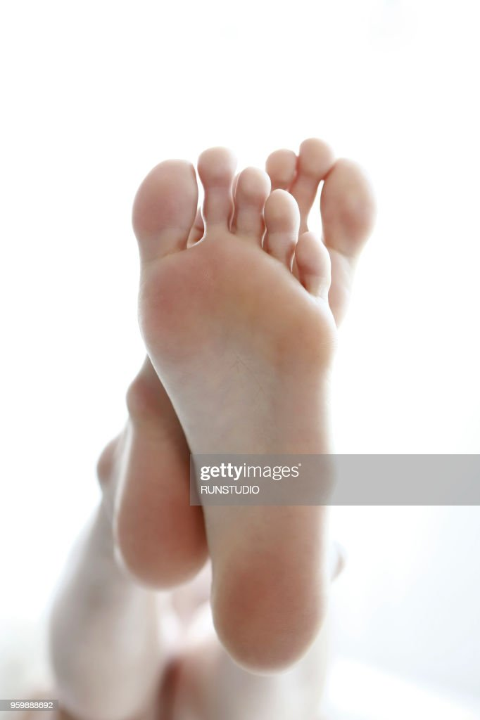 Close up of woman feet : Stock Photo