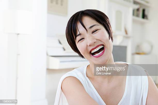 Close up of woman laughing