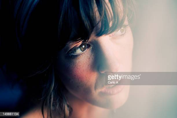 close up of woman - emotion stock pictures, royalty-free photos & images