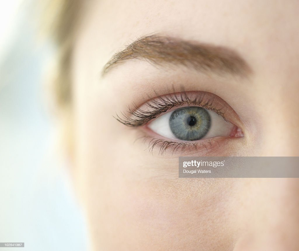 Close up of woman's eye. : Stock Photo