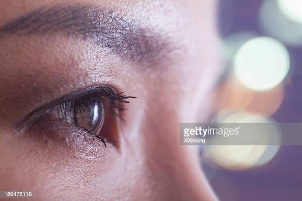 Close up of woman's eye, side view