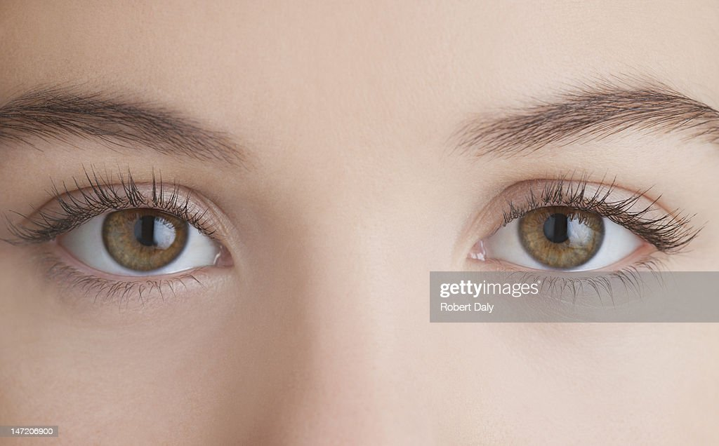 Close up of woman's eyes : Stock Photo