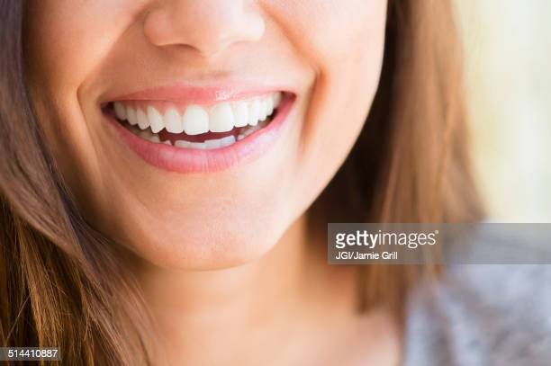 close up of woman's smile - human mouth stock pictures, royalty-free photos & images