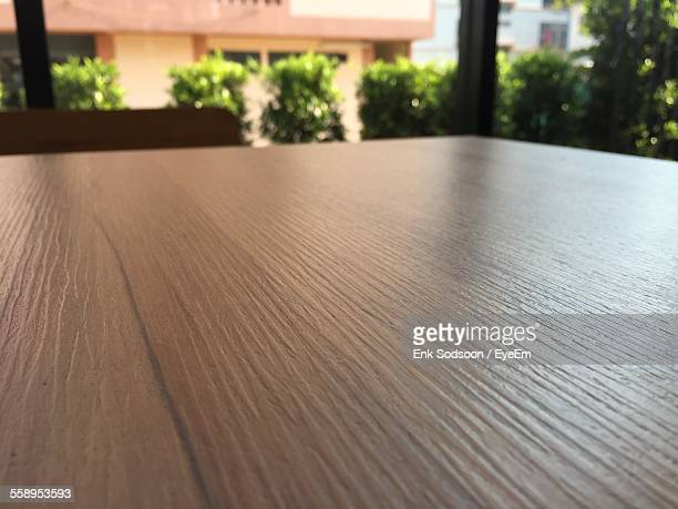 Close Up Of Wooden Table
