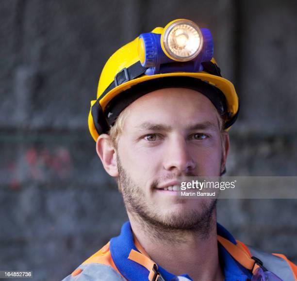 Nahaufnahme von lächelndes Gesicht worker's