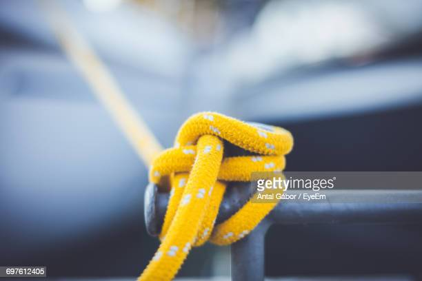 Close Up Of Yellow Rope