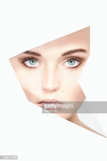 close up of young woman, portrait - neo foto e immagini stock