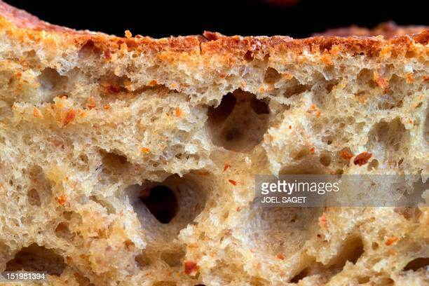 Close up on breadcrumb of the 'Friends' bread' made by Christophe Vasseur a former fashion business executive turned baker taken on September 14 2012...