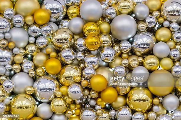 Close up on Christmas balls