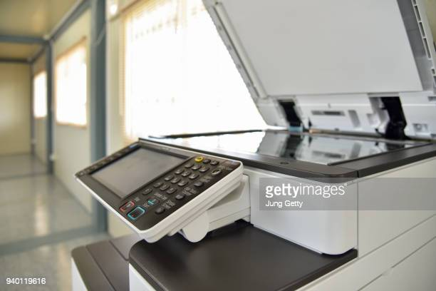 close up on copier in the office for business people workplace