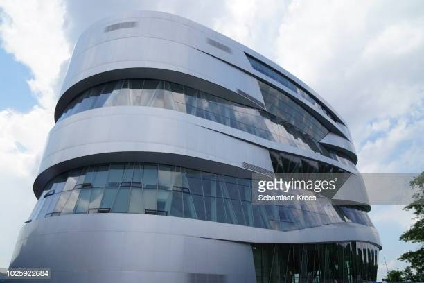 Close up on Facade of the Mercedes-Benz Museum, Stuttgart, Germany