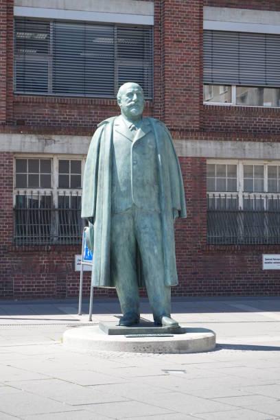 Close Up on the Adam Opel Statue, Rüsselsheim, Germany
