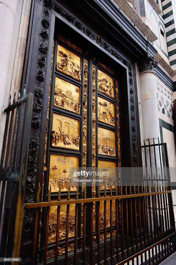Close up on the Baptistery of Saint John Doors Florence Italy & Florence Baptistery Doors Stock Photos and Pictures   Getty Images pezcame.com