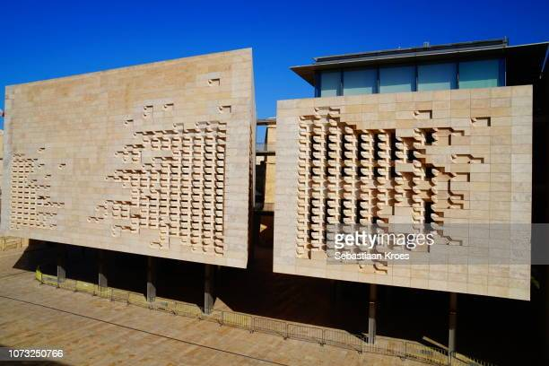 Close Up on the Facade of the New Parliament Building, Valletta, Malta