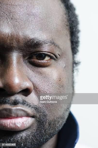 close-up na parte esquerda do rosto de um jovem adulto negro - left eye - fotografias e filmes do acervo