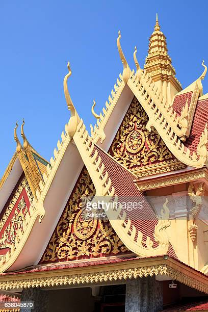 Close up on the roof of Royal Palace – The Throne Hall, Phnom Penh, Cambodi