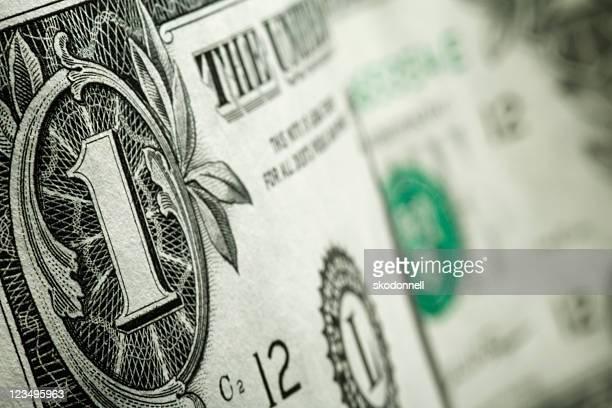 クローズアップ 1 ドル紙幣