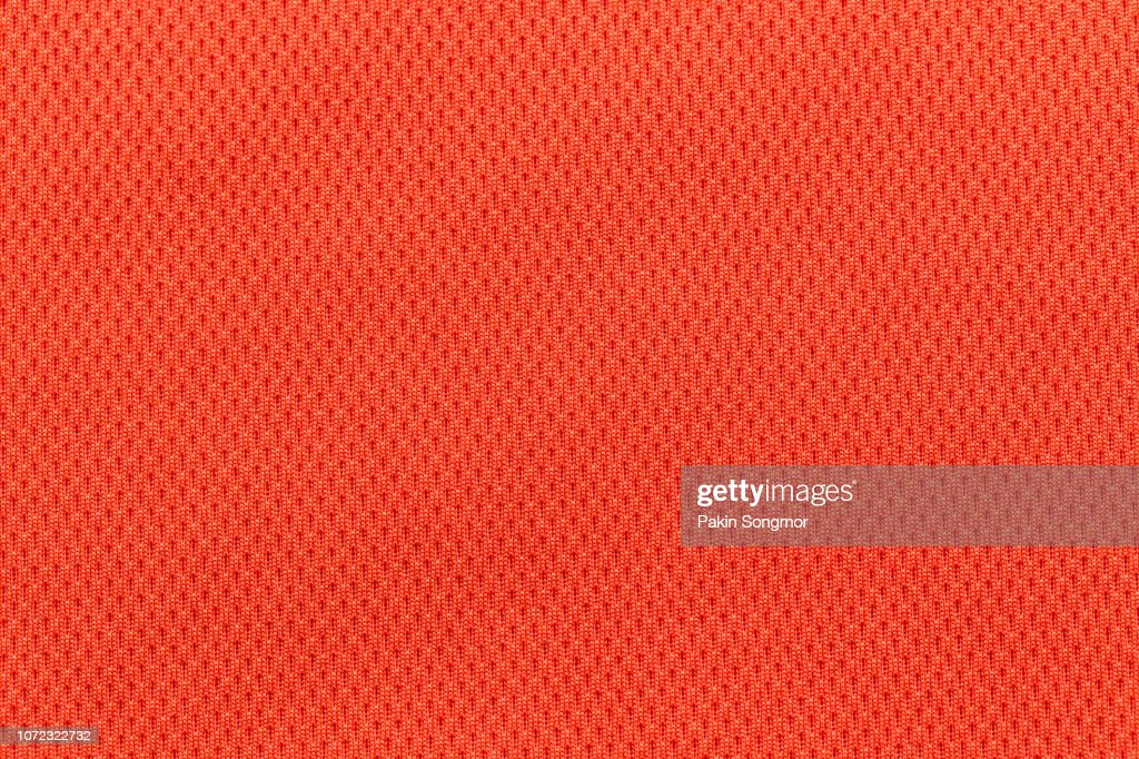 Close up Orange or Red fabric texture. Textile background. : Stock Photo
