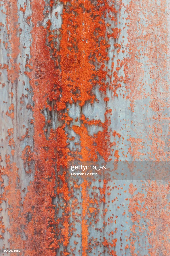 Close up orange rust on metal : Stock Photo