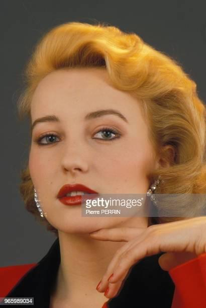 Close up Pauline Lafont actrice le 16 février 1985 à Paris France