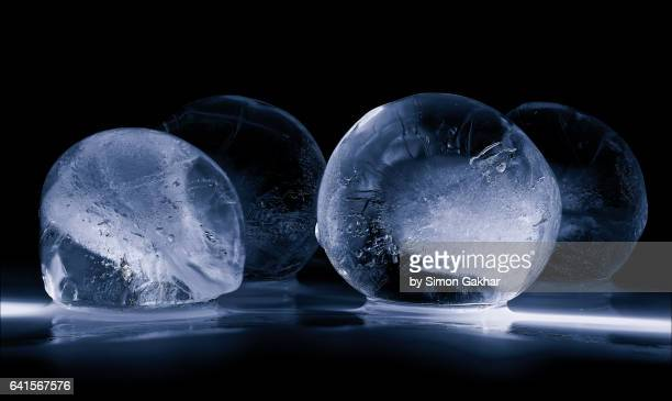 Close up Photograph of Spherical Ice Sculpture