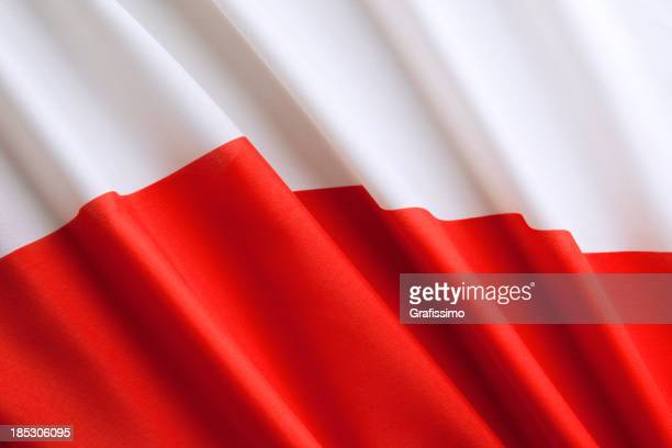 Close up polish flag
