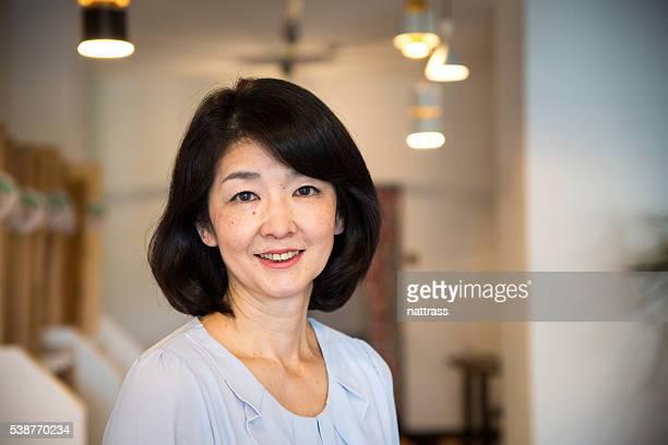 Close up portrait of a senior Japanese woman
