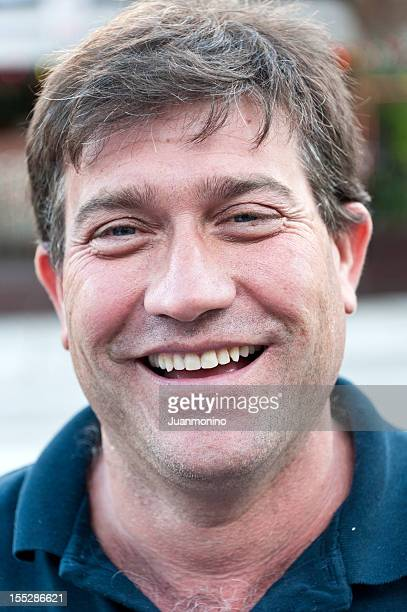 close up portrait of a smiling man