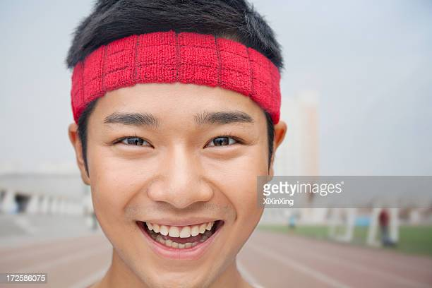 close up portrait of athlete - headband stock pictures, royalty-free photos & images