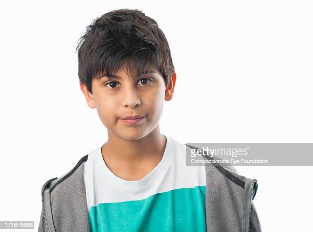 Close up portrait of boy (10-12)