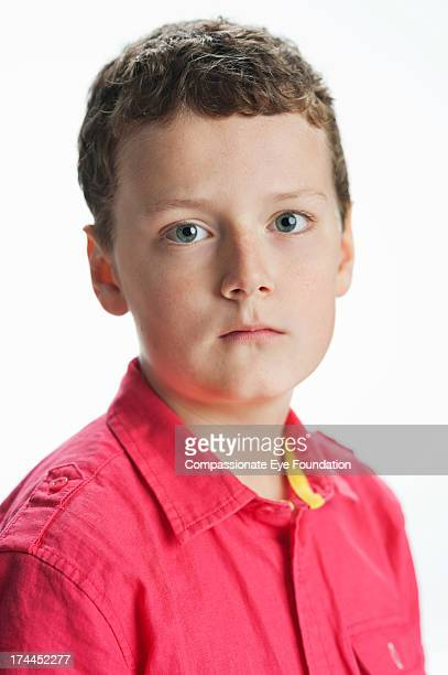 Close up portrait of boy (11-12)
