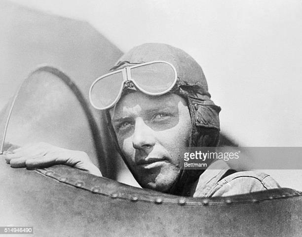 Close up Portrait of Charles Lindbergh