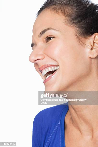 Close up portrait of laughing woman