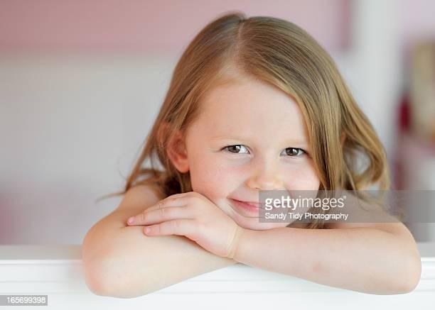 Close up Portrait of Little Girl