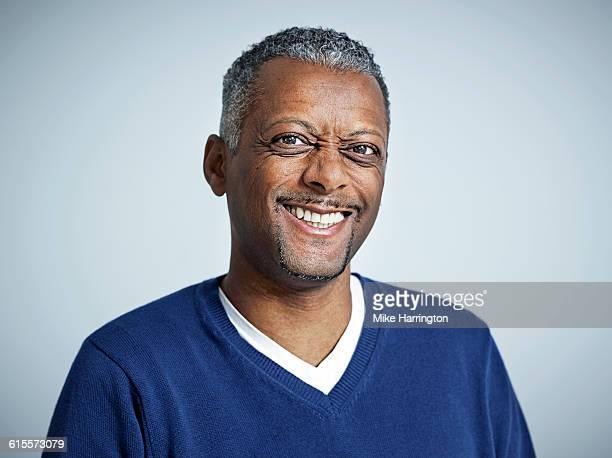 Close up portrait of mature black male