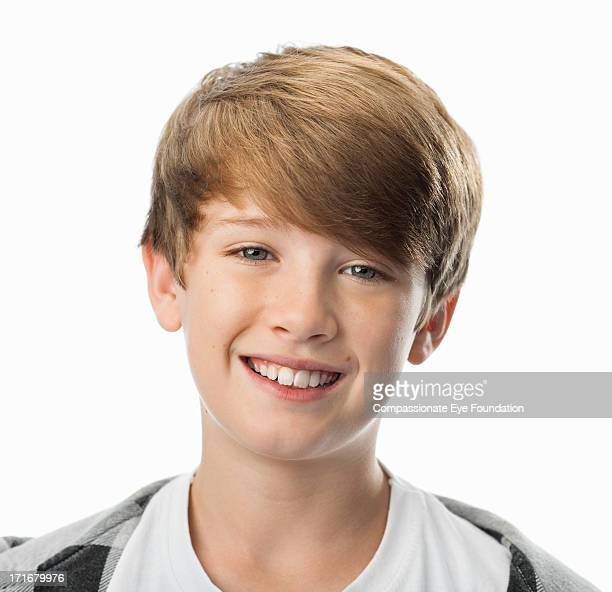 Close up portrait of smiling boy (9-11)