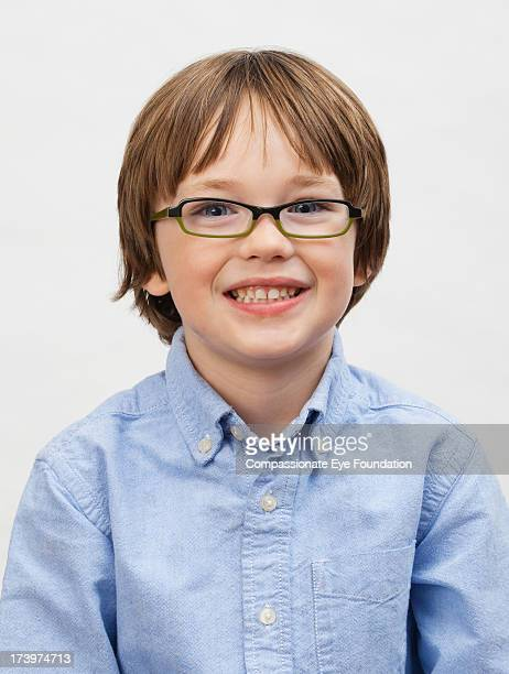 Close up portrait of smiling boy (5-7)