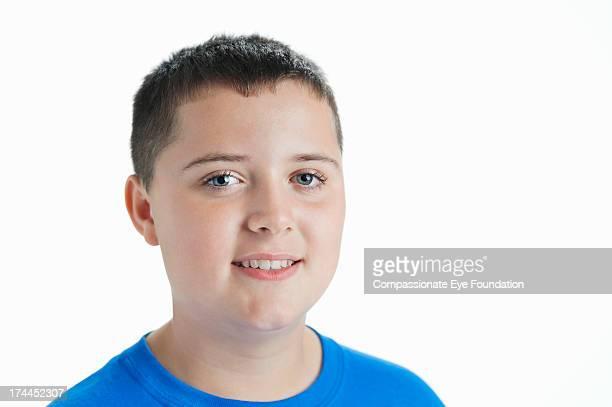 Close up portrait of smiling boy (11-12)