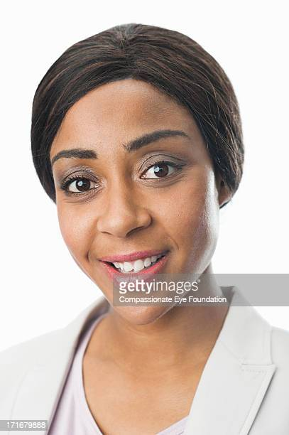 "close up portrait of smiling businesswoman - ""compassionate eye"" stock pictures, royalty-free photos & images"