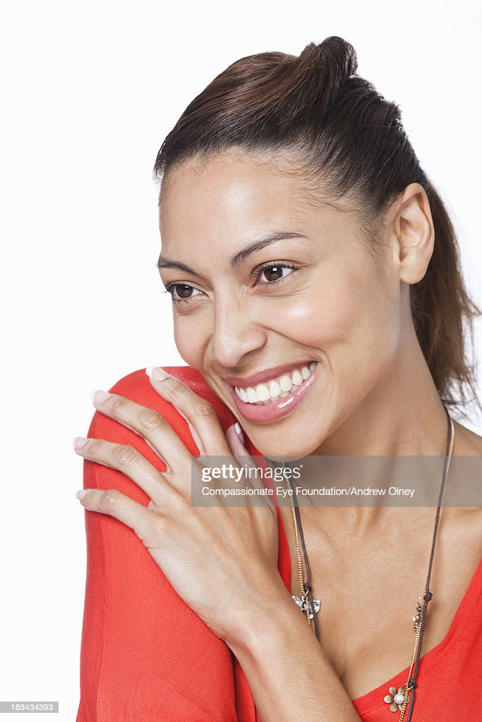 Close up portrait of smiling woman : Foto stock