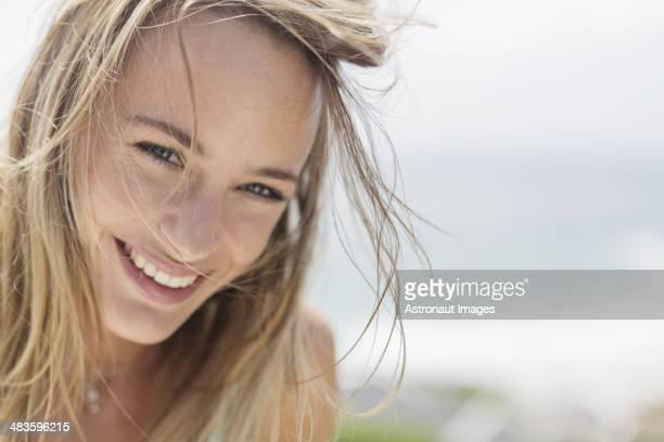 Nahaufnahme Porträt eines lächelnden Frau