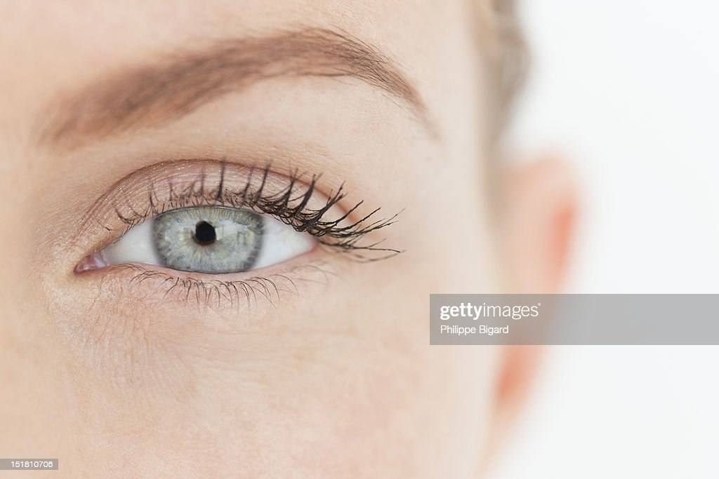 Close up portrait of womans eye : Stock Photo