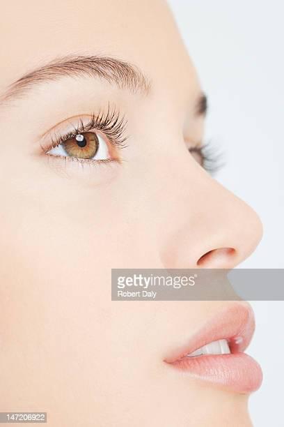 Gros plan portrait de femme visage