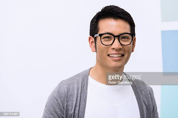 close up portrait of young male designer - robin skjoldborg stock pictures, royalty-free photos & images