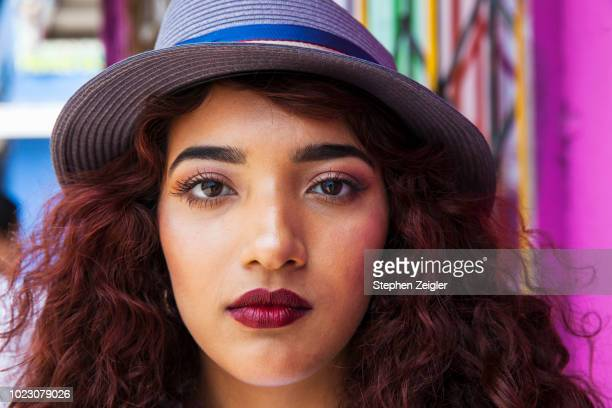 close up portrait of young woman 02