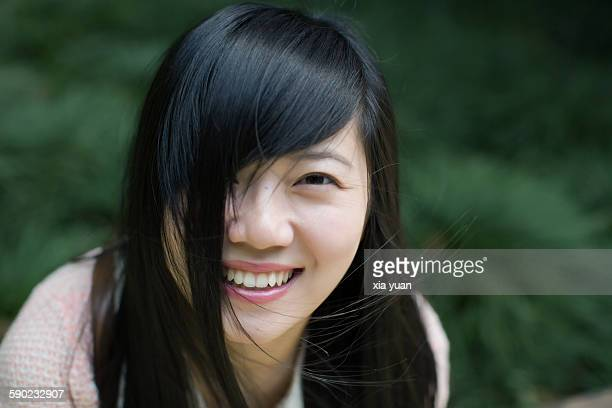 Close up portrait of young woman,smiling