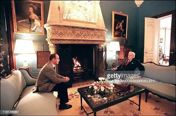 Close up Prince Rainier and son Prince Albert in Monaco City Monaco on March 06 1998
