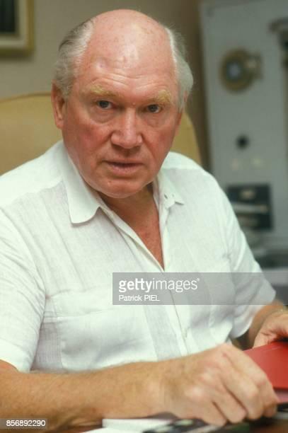Close up professeur Julius Hackethal fervent défenseur de l'euthanasie le 17 août 1987 à Munich Allemagne
