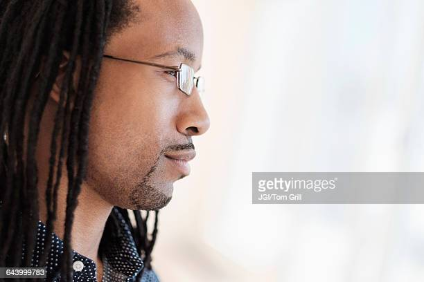Close up profile of Black man