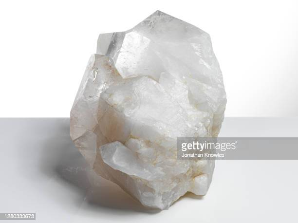 close up quartz crystal - salt mineral stock pictures, royalty-free photos & images